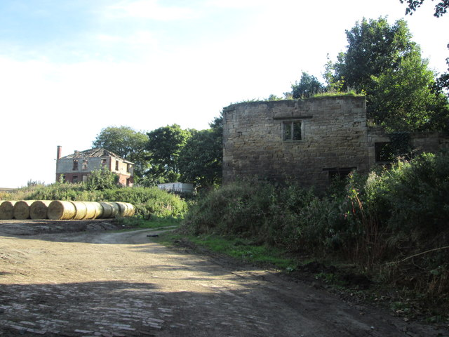 Derelict buildings at Newland Hall