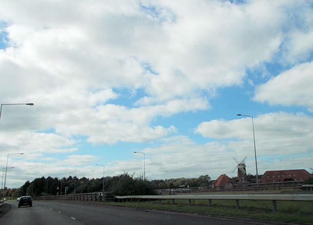 Caldecote Windmill from Bletcham Way