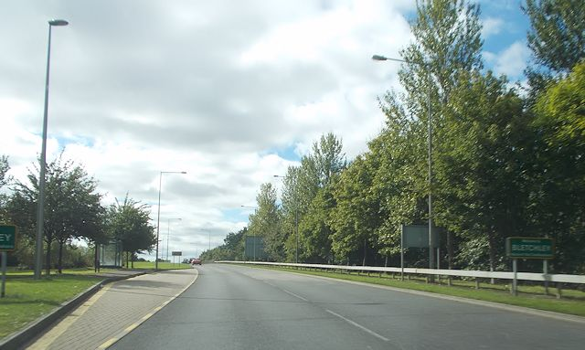 Entering Bletchley from Fenny Lock roundabout