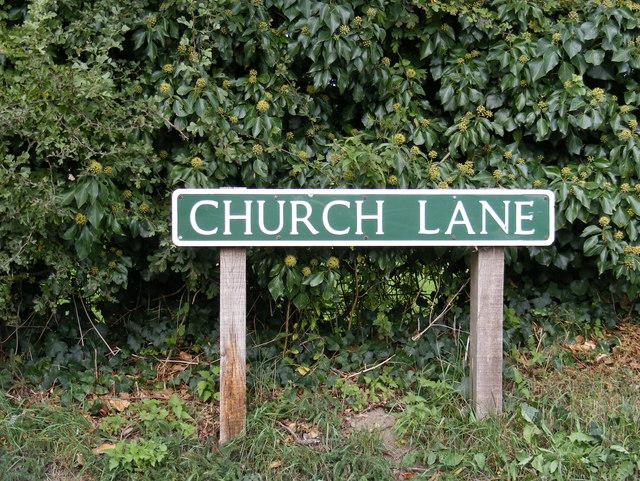 Church Lane sign