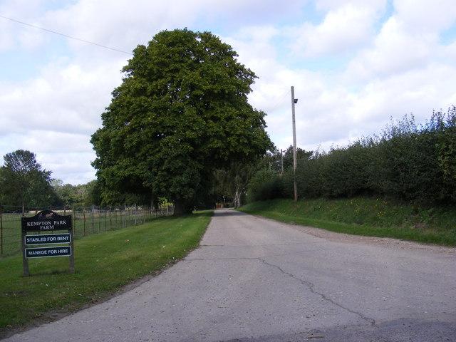 Entrance to Kempton Park Farm