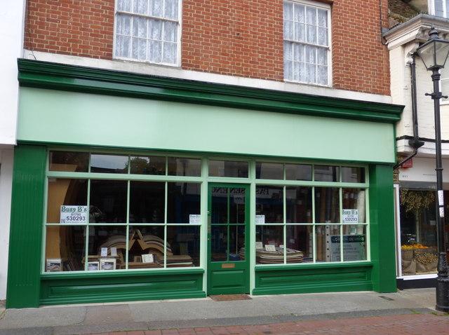 Refurbished shop front in Faversham