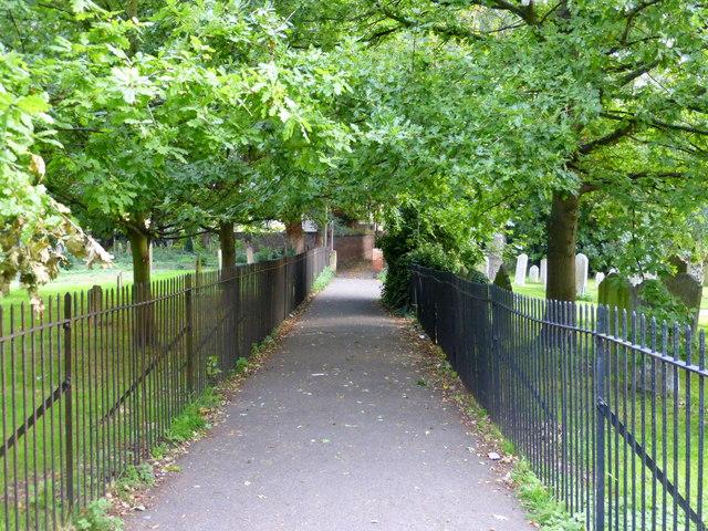 Footpath through the churchyard, Faversham