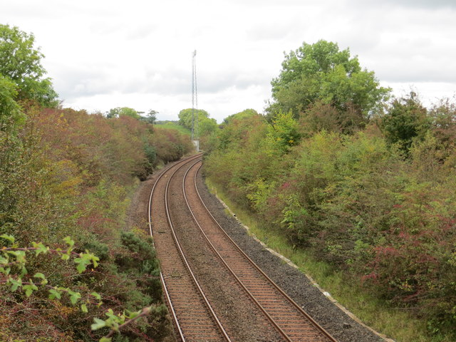 The railway line from/to Girvan