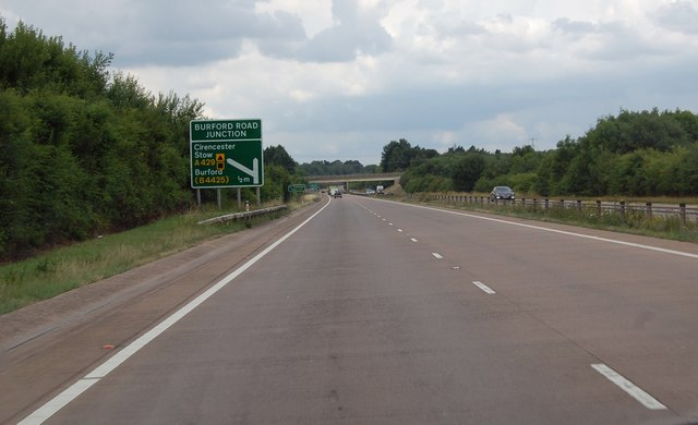 A419 half a mile to Burford Road junction