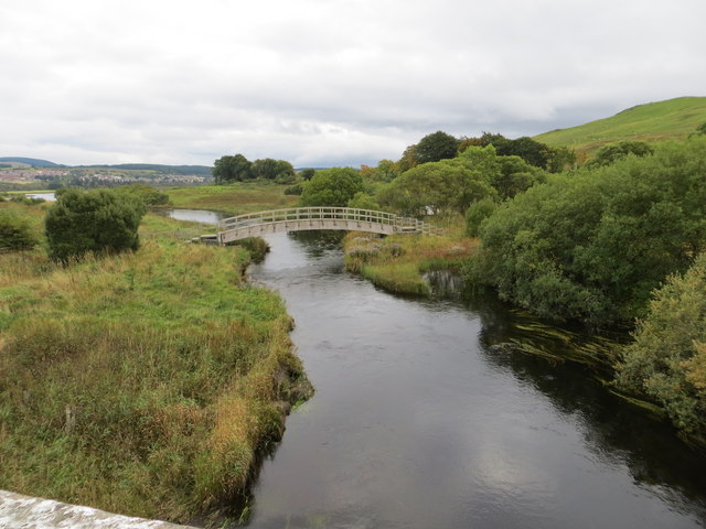Footbridge up stream from Doon Bridge