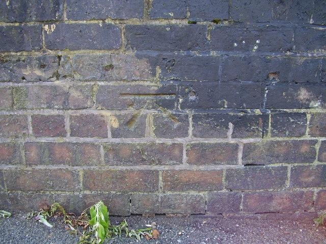 Ordnance Survey bolt on Old Red Lane Bridge