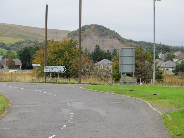 Road junction, B741 meets A713