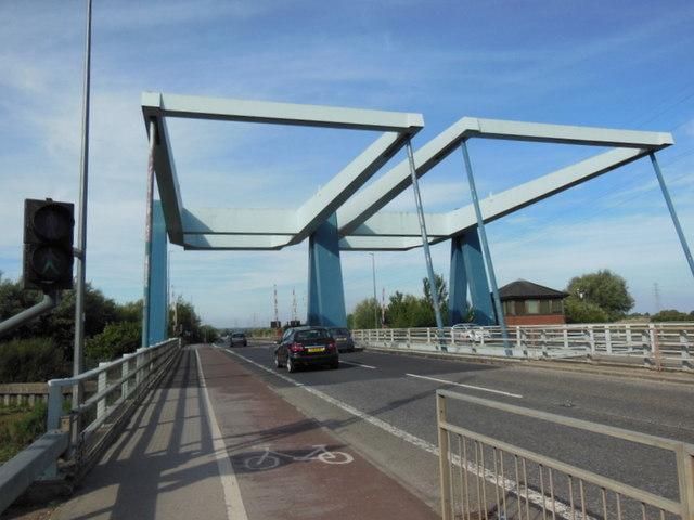 The twin bridges on Raich Carter Way, Hull