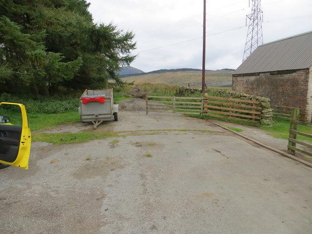 The old A713 at Lamford