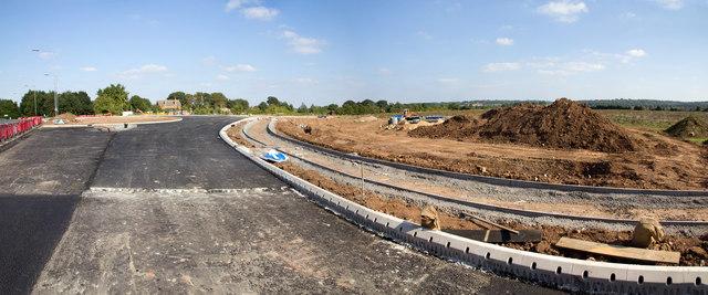 New footpath alongside A429 Ettington Road