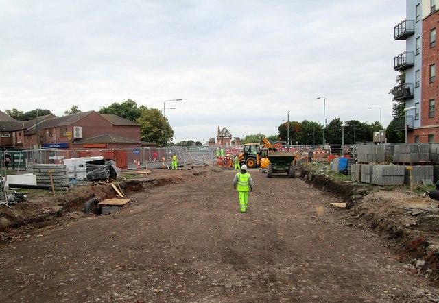 The site of Queen's Walk tram stop