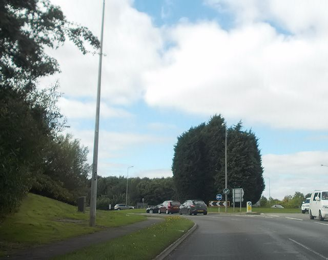 Elfield Park roundabout from the east
