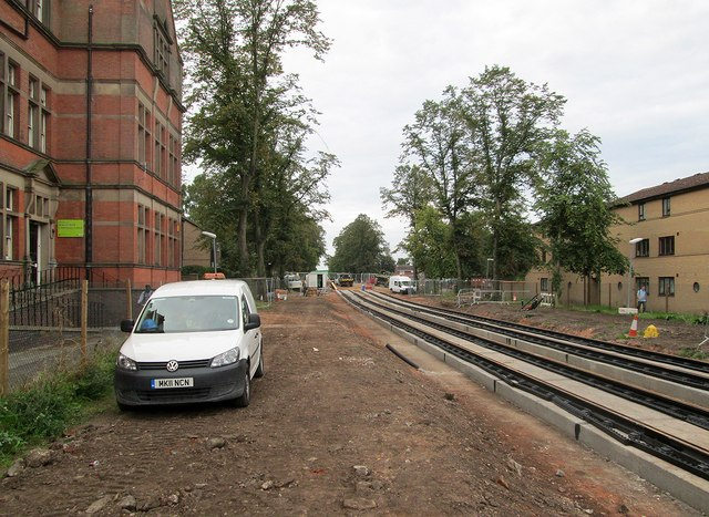 Meadows Centre: track in place