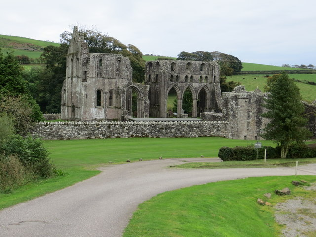The remains of Dundrennan Abbey