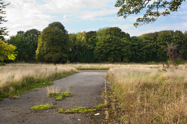 Derelict land shields Childwall Golf Course from view