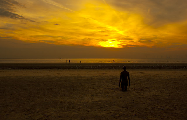 Sunset on Crosby beach