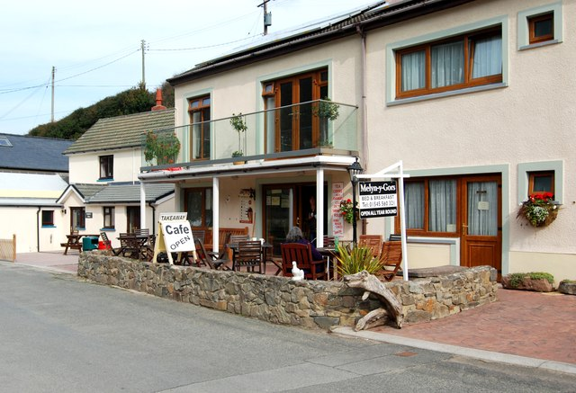 The cafe at Cwmtydu