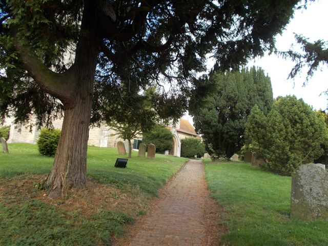 Path up to St Mary's church