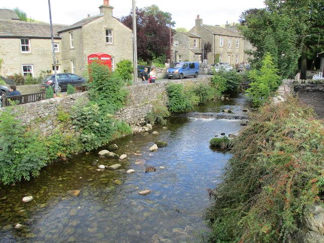 Beck flowing through Kettlewell