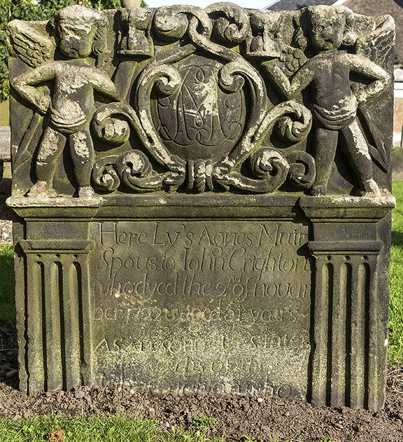 Gravestone at Dalmeny Parish Church