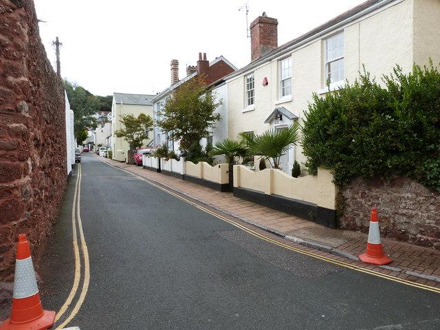 Houses in Albion Street, Shaldon, Devon