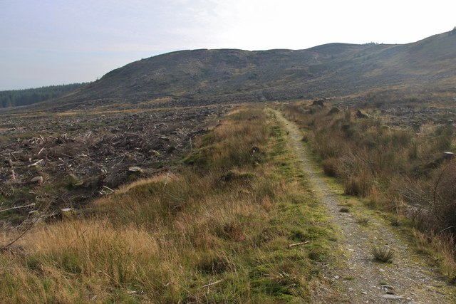 Recently clear-felled forest at Bealach Gaothach