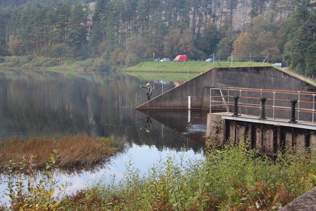 A quiet bit of fishing on the reservoir in Bishop's Glen