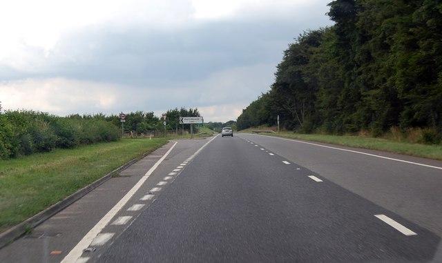 A417 exit for Duntisbourne Leer