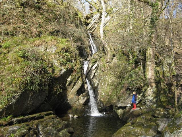 Waterfall at Felin Uchaf Cynwyd