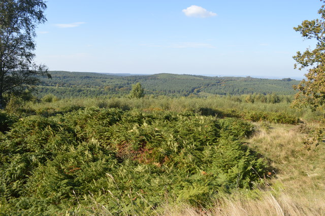 View from the missing trig point at Castle Ring