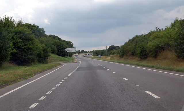 A417 exit for Duntisbourne Abbots and Winstone