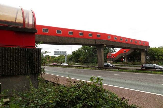 Footbridge over the M6