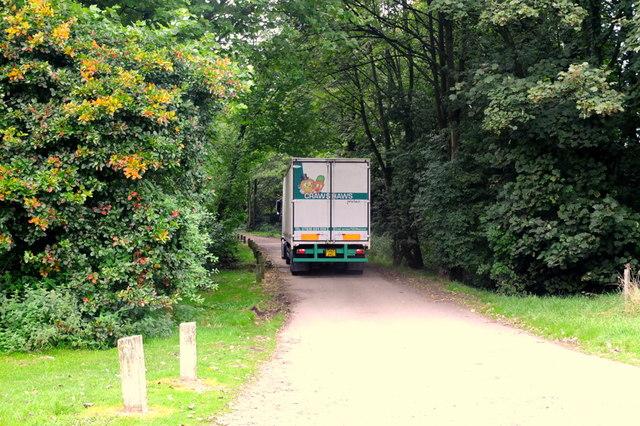 Crawshaw's Produce Wagon heading to Valentine's Farm
