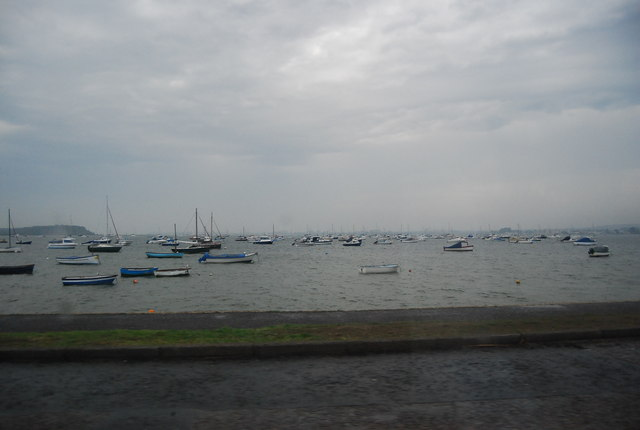 Boats moored in Poole Harbour