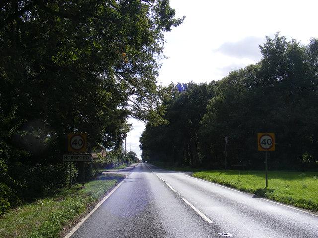 Entering Horsford on the B1149 Holt Road