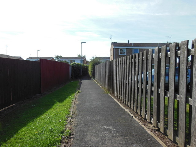 A path leading to Downfield Avenue