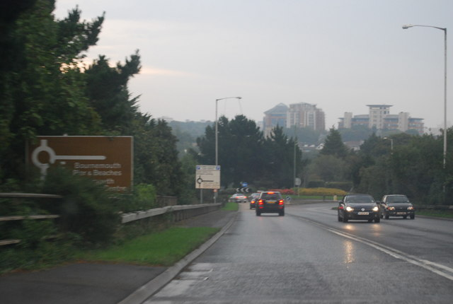 A338, approaching Bournemouth West Roundabout