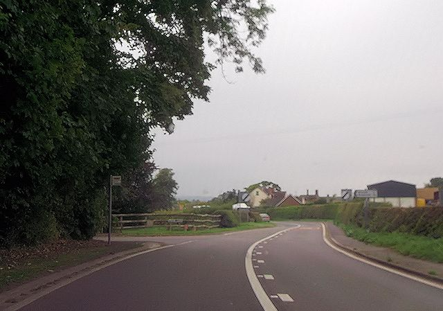 Leaving Hanwood at Pound Lane
