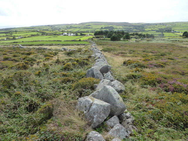 Ancient stone wall on Trink Hill
