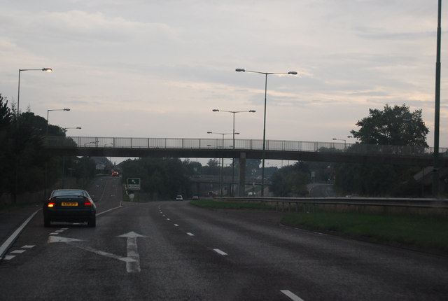 Footbridge over the A338