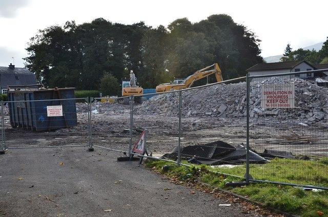 Demolition of Dunwhinny Lodge, Peebles