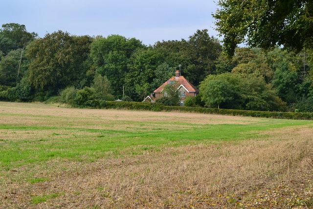 Looking towards Warren Farm Cottages