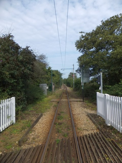 The track of the tramway at Colyford