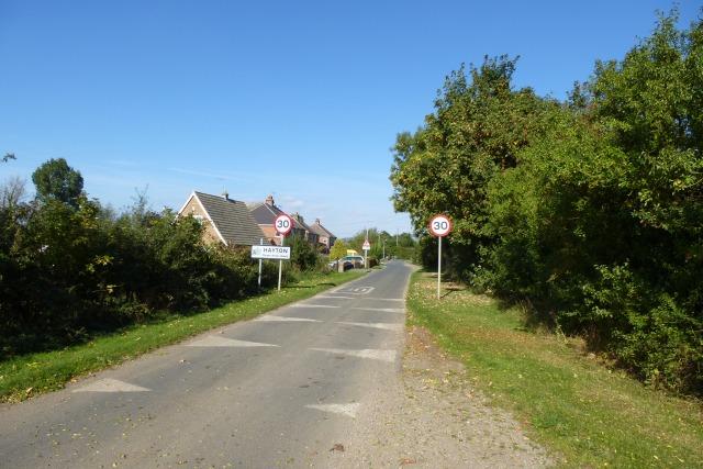 Entering Hayton