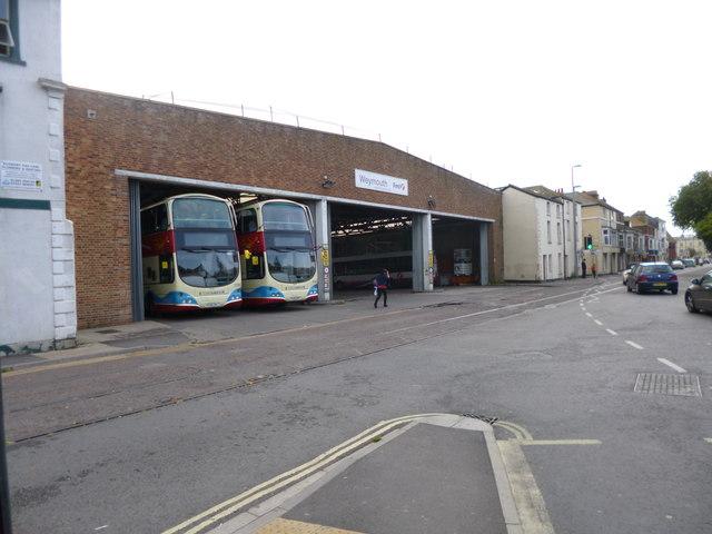 Weymouth, bus garage