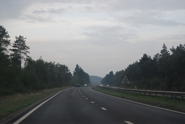 A338 crossing Avon Common