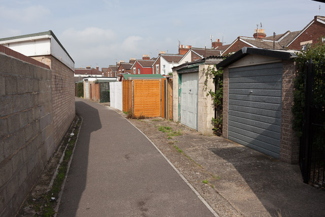 Alley and sheds behind The Crescent