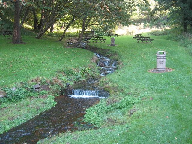 Mini falls at New Lanark