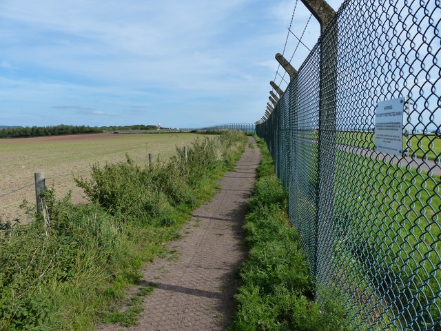 Perimeter fence at East Midlands Airport
